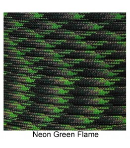 550 Paracord - Neon Green Flame - 100'