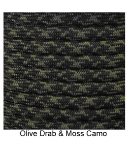550 Paracord - OD and Moss Camo - 100'