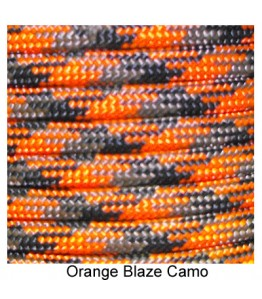 550 Paracord - Orange Blaze Camo - 100'