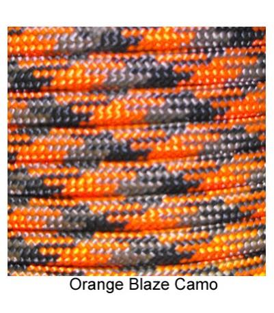 550 Paracord - Orange Blaze Camo - 100'