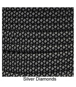 550 Paracord - Silver Diamonds - 100'