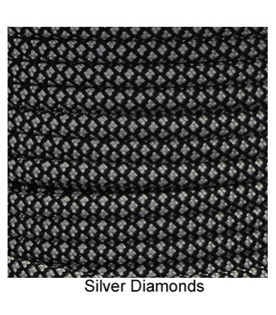 550 Paracord - Silver Diamonds - 100'