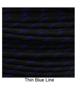550 Paracord - Thin Blue Line - 100'