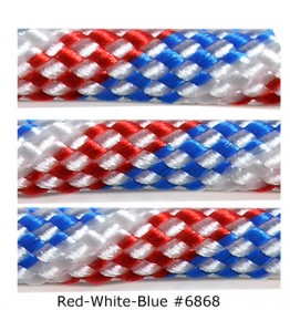 550 Paracord - Red, White and Blue #6868 - 100'