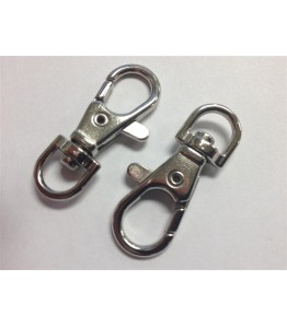Metal Clasp Hook - Chrome - Small