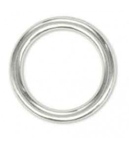 "Solid Ring 3/4"" (1.9 cm) Nickel Plated 10/pk"
