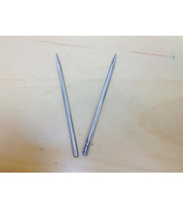 "4"" 4mm Lacing Needle Kit - Nickel Plated Brass - 2pk"