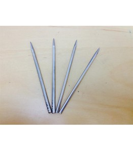 "4"" 3.5mm and 4mm Lacing Needle Kit - Nickel Plated Brass - 4pk"