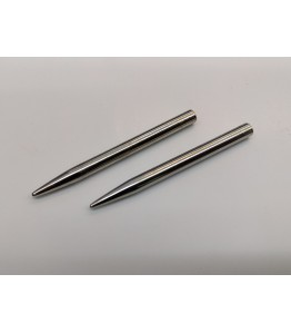 "2"" 4mm Lacing Needle Kit - Nickel Plated Brass - 2pk"