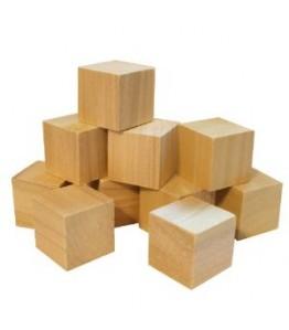 "Cubes, Wooden - 1"" -- 10pk"